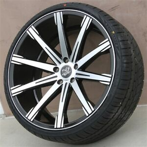 4 Set 22 22x9 22x10 5 5x120 Et35mm Wheels Tires Pkg Bmw 640 650 740 750 760