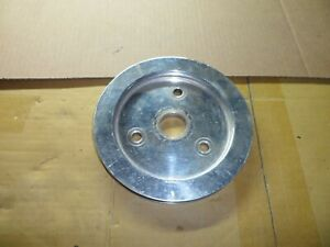 Chevrolet Sbc 265 283 327 350 400 Single Groove Crankshaft Aluminum Pulley