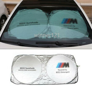 Car Windshield Sun Shade Foldable Blocks Uv Rays Sun Visor Protector For Bmw