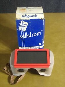 Vintage Sellstrom Safeguards Safety Goggles Original Box W green Glass Lens