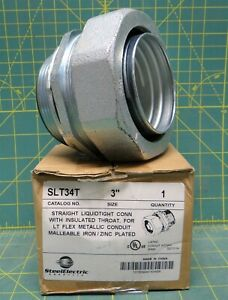 Sepco Slt34t 3 Malleable Iron Insulated Throat Liquidtight Straight Connector