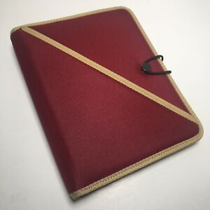 Day timer Red Classic Desk Planner Organizer Binder Fits Franklin Covey