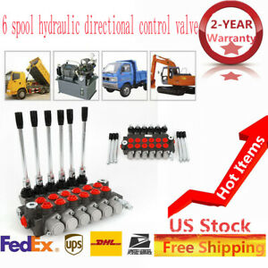 6 Spool Hydraulic Directional Control Valve Double Acting Cylinder 11gpm 40l min