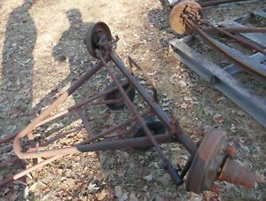 Ford Model Aa 1 Ton Front Axles Lot Of 3 With Wishbones More As Found Rat Rod