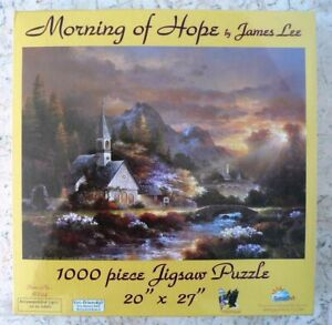 NEW Morning of Hope by JAMES LEE 1000 PIECE Jigsaw Puzzle SEALED Made in USA NIB C $14.99