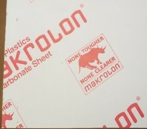 Clear Polycarbonate Sheet Makrolon 1 4 Thick 6 X 6 Measures 0 220