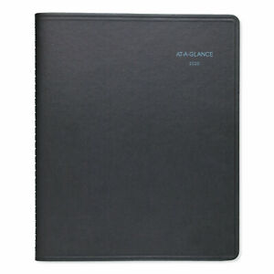 At a glance Quicknotes Weekly monthly Appointment Book 9 7 8 X 8 Black 2020