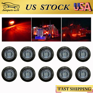 10x 3 4 Smoked Red Led Side Marker Lights For Trailer Truck Off road Auto Rv