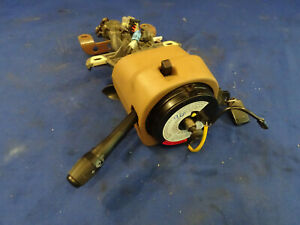 96 Ford Mustang Manual Steering Column With Key Clockspring Oem Take Off M04