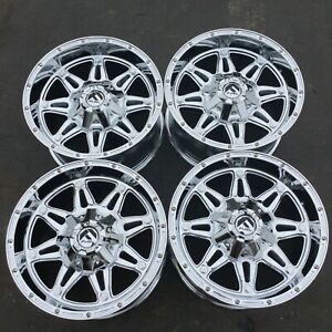Set 4 17 Fuel Hostage D530 Chrome Wheels 17x9 5x4 5 5x5 01mm Lifted Truck Rims