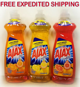 Ajax Ultra Dish Washing Detergent Liquid Soap 14oz House Kitchen Cleaner Grease