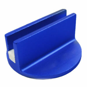 Blue Slotted Magnetic Jack Pad Pinch Weld Frame Rail Adapter