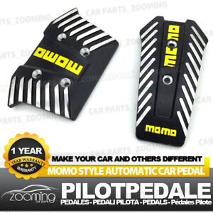 2 Pcs At Universal Racing Non Slip Black Metal Automatic Car Pedals Pad Lw01