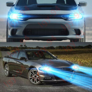For Dodge Charger 2016 2019 2pc 8000k Led Headlights Kit High low Beam Bulbs