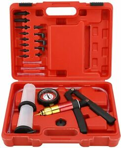 Hand Held Vacuum Pump Brake Bleeder Set Bleed Tester Tool Kit For Automotive New