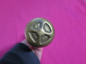 Antique Victorian 12 Point Glass Brass Door Knob Set Unique Original Hardware