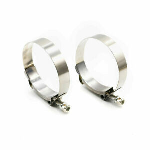 2pcs 3 T Bolt Clamp Silicone Stainless Steel Hose Turbo Intake Intercooler