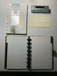 Levenger Circa Leather Foldover Notebook Junior With Extra Paper Extra Discs