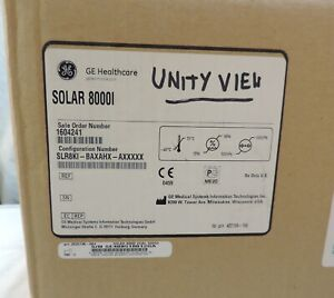 Ge Marquette Solar 8000i Dual Video Unityview Patient Monitor Console