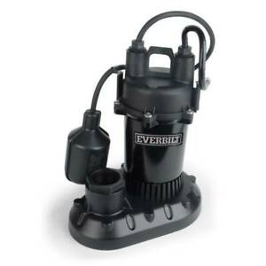Sump Pump Submersible Aluminum 1 2 Hp W tethered Float Switch By Everbilt new
