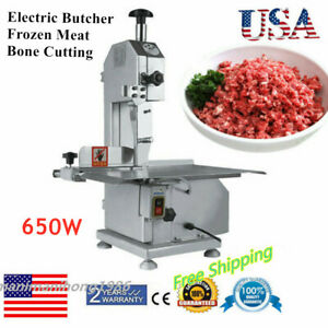 110v Commercial Electric Meat Band Saw Bone Saw Machine Cutter Heavy duty