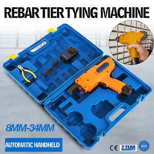 8 34mm Automatic Rebar Tier Handheld Tying Reinforcing Steel Strapping Machine