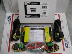 Meyer Nite Saber I Ii Iii Snow Plow Light Module Kit 07548 Has New 07347 Modules