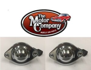 1964 1965 Chevelle Rear Bumper License Plate Light Lamp Assembly Pair In Stk