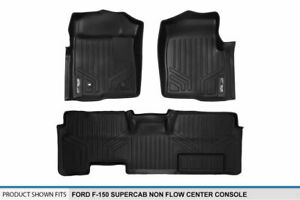Floor Mats 1st 2nd Row Liners For 09 10 F 150 Super Cab W O Flow Center Console
