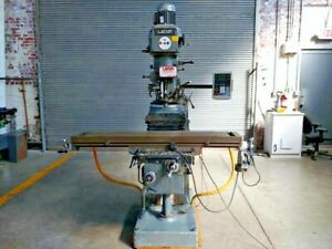 Lagun Ftv 3l Vertical Knee Milling Machine 11 X 58 Table Newall Dro s Powerfeed