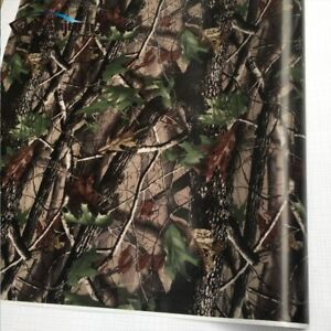 Camo Tree Vinyl Car Wrap Adhesive Real Tree Camouflage Film For Truck Hood Roof