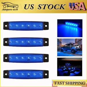 4x 3 8 Blue Led Rock Lights For Jeep Offroad Truck Bed Fender Underbody Light