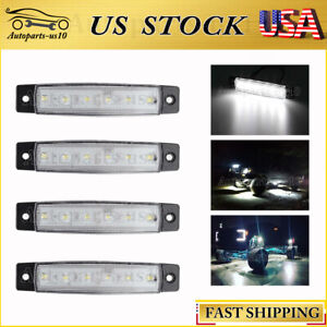 4x 3 8in Led Rock Lights For Jeep Truck Off Road Fender Underbody White Light