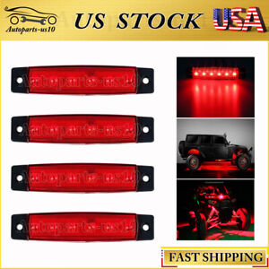 4x 3 8 Red Led Rock Light For Jeep Offroad Atv Truck Auto Bed Under Body Lights