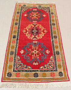 Semi Antique Rug From Tibet Nepal T001