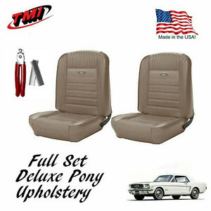 1964 1966 Mustang Front And Rear Deluxe Pony Upholstery Plier Kit In Stock