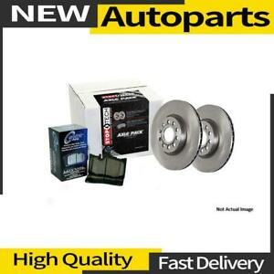 1x Disc Brake Pad And Rotor Kit Rear Centric Parts For 2011 2014 Ford Edge