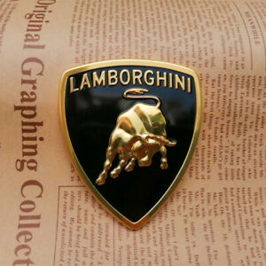 Lamborghini Metal Sticker Bull Emblem Badge 73 63mm 1pc
