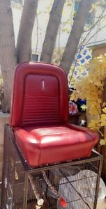 1964 1965 1966 1967 Mustang Driver And Passenger Seats 2 Set Oem Red