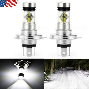 2x H4 9003 100w 20000lm 6000k Car Cob Led Conversion Headlight Bulb Hi Low Beam