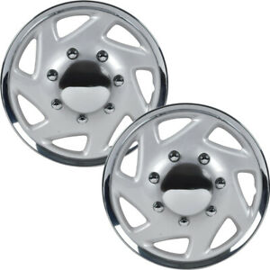 2 Pc Hubcaps For Ford E 150 250 350 Truck Van 16 Full Lug Abs Wheel Protection