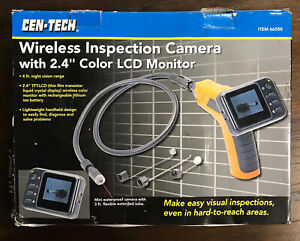 Cen tech Wireless Inspection Camera With 2 4 Color Lcd Monitor New