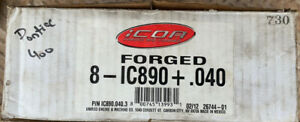 Icon 8 ic890 040 Forged Flat Top Pistons 2 Valve Relief Pontiac 400 Nos