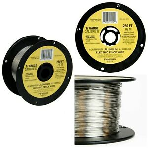 250 feet Electric Fence Wire 17 Gauge Spool Aluminum Wire Lightweight 38 000 Psi