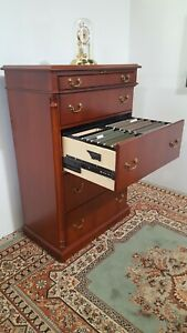Ofs Classic Lateral File Cabinet Cherry Veneer Wood