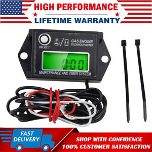 Digital Rpm Tach Hour Meter Tachometer Gauge For 2 4 Stroke Motorcycle Dirt Bike