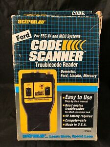 Actron Code Scanner For Ford Lincoln Mercury 1981 Thru 1995 See Photos
