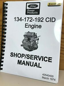 Ford 134 172 192 Cid Engines Service Manual