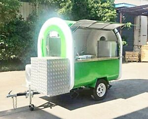 7x5ft Mobile Food Cart Trailer Preequipped Customized Food Truck Pickup Ship