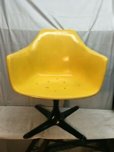Vintage Mid Century Burke Industries Egg Shaped Swivel Office Chair